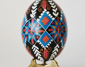 Pysanka Traditional Ukrainian Egg best gift for mom who loves Christian tradition and National art made in Canada by Toronto artist