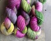 ST.BRIGID- Ramie/wool sock yarn Hand dyed