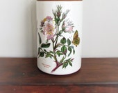 Vintage Portmeirion,The Botanic Garden Circa 1818, Canister  With Wood Lid,Made In England In 1972 from Hollywood Hillbilly