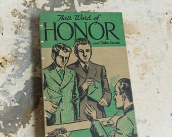 1940 WORD OF HONOR Vintage Book Journal Notebook