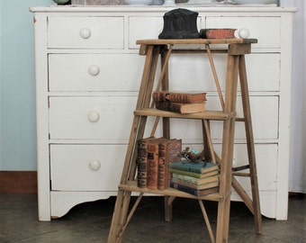 Vintage 3 Step Folding Ladder