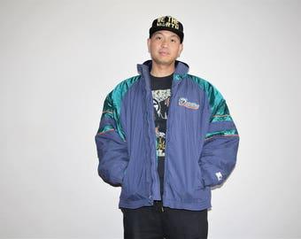VTG 1990s Miami Dolphins NFL Football Starter Athletics Winter Parka Jacket Coat - Starter Jackets - 90s Clothing - MV0009