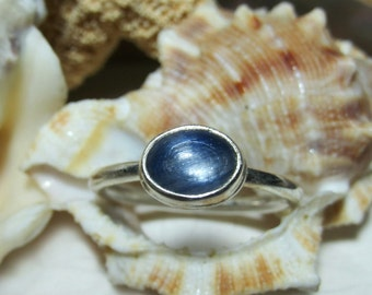 Sterling Silver Kyanite Cabochon Ring 2.79 grams Size 7