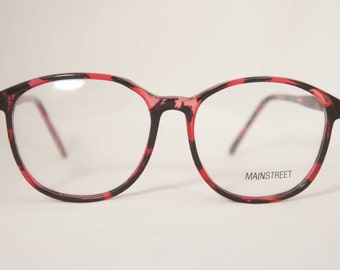 Oversized Vintage Eyeglass Frames, 1980's New Old Stock, Purple and Black  Mainstreet