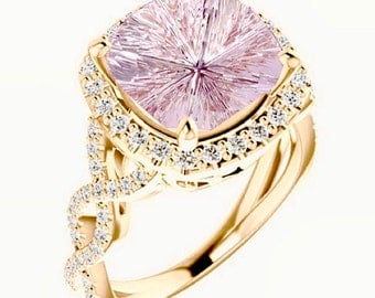 Pink Morganite Rose Gold Diamond Ring Designer John Dyer Gemstone