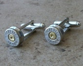 Bullet Cufflinks, Winchester 40 S&W Cufflinks, Wedding Cufflink Sets, Nickel Finish, Great Gift item,  - 461