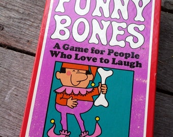 Vintage Card Game Funny Bones A Game for People who Love to Laugh Parker Brothers 1968
