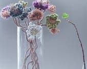 Reserved - The Bouquet of nine Fictional Flowers and one Leaf Cluster