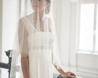 Circle drop veil - Bridal veil - Circle veil - Drop veil - Wedding veil - Simple veil