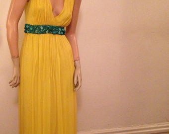Reserved for Ashlee Designer Formal Gown in Goldenrod Yellow by Adam Lippes