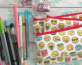 pencil pouch -- emoji