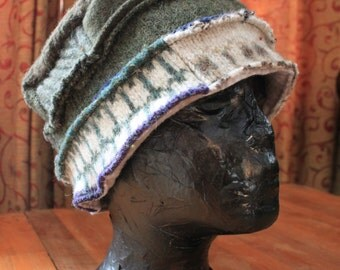 OOAK Handcrafted ladies cloche hat