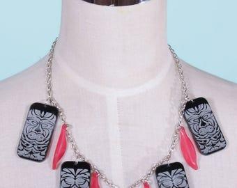 Black Tiki Nights Necklace