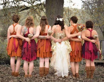 Woodland Bridesmaid Dress, Rustic Bridesmaid Dress, Fairy Bridesmaid Dress, Women's Fairy Costume, Custom Dress, Scrap Dress