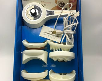 Vintage Pollenex Deep Heat 2 Speed Massager Set 7 Piece NOS HM24S