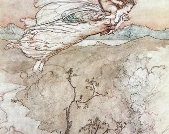 Her Fairy Sent,  Arthur Rackham, Vinatge Art Print