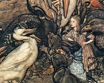 Who Has Won,  Arthur Rackham, Vinatge Art Print