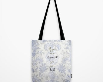 TOTE BAG you can blue tapestry