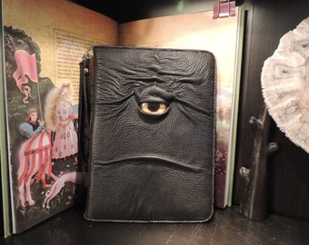 """IPad Pro 9.7"""" Cover(Black leather with Yellow Eye)"""