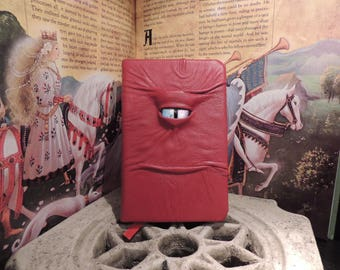 Mythical Beast Book (Red leather with Metallic Silver eye)
