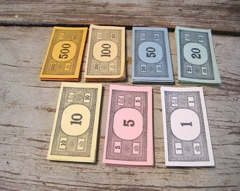 Vintage Monopoly Money