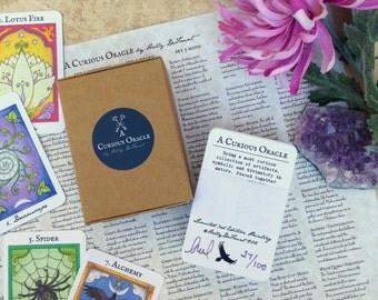 LIMITED 3RD EDITION of 100- A Curious Oracle Cards, Oracle Deck, Tarot, Oracle