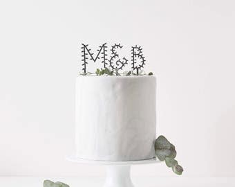Personalised Botanical Letter Cake Topper