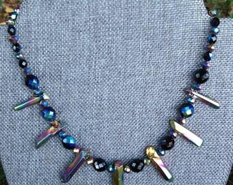 Crystal Skies Necklaces (Nordic Winter Aurora Borealis Northern Lights )
