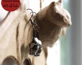 30% off Annual Birthday Sale Ready to Ship Miyu Decay Pewter Bat Skull Earrings
