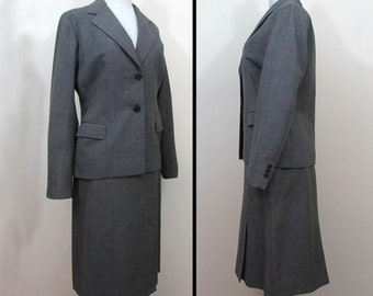 1960s Gray wool suit - Meyers Inc - business day suit - Sm-Med - 1960s