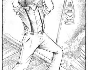 Hobomancer Montana Handle Original Illustration