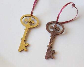 Kappa Kappa Gamma Ornament // Key Wooden Ornament // Sorority Christmas Gift // KKG Key Ornament