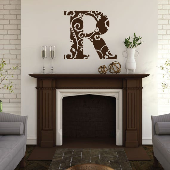 Monogram - Monogram Decal - Monogram Wall Decal - Custom Decals - Custom Wall Decals - Monogram Sticker - Rustic Decor - Wall Decals