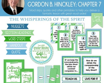 Relief Society Lesson Helps, Gordon B. Hinckley Lesson #7, RS Lesson Aides - Teachings of the Presidents of the Church, PRINTABLE Download
