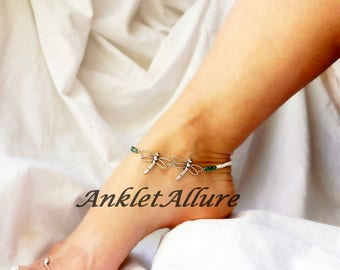 Me n You Dragonfly Anklet Friends Ankle Bracelet Body Jewelry Foot Jewelry