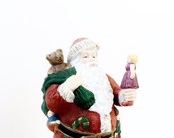 Large Vintage Santa Claus Figurine Handpainted Ceramic Santas Of The World Granduer Noel 1918 Canada North American Nostalgic Decor