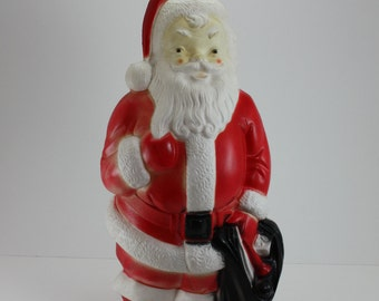 Vintage Santa Claus St. Nick Kris Kringle Light Up Blow Mold Empire 1968 Christmas Holiday Indoor Outdoor Decor