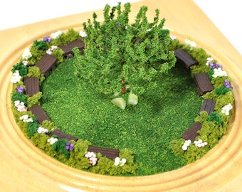 Tree of Knowledge - Mini Garden Tabletop Garden Diorama Garden Scene Miniature Park Friendship Garden Gift Handmade by A Garden to Treasure