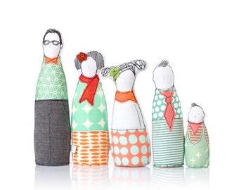Family Portrait dolls ,  Playset dolls , parents children , Personalized family dolls , family Selfie , livingRoom Decor , Family gift