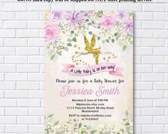 Fairy Baby Shower Invitation Whimsical Baby Shower