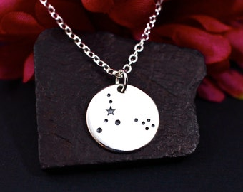 Pisces Constellation Necklace Sterling Silver, Pisces Jewelry, Pisces Sign Necklace,Pisces Zodiak Necklace, Pisces Birthday Gift