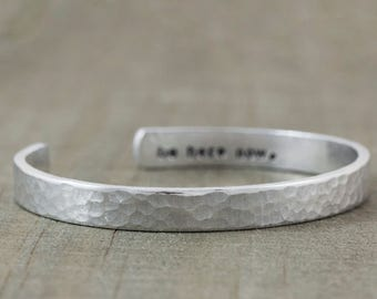 Hand Stamped Jewelry - Mothers Day Gift - Personalized Engraved Bracelet - Secret Message Bracelet - Inspirational Quote Bracelet - Mom Gift