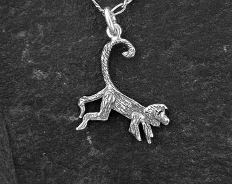 Sterling Silver Monkey Pendant on a Sterling Silver Chain.