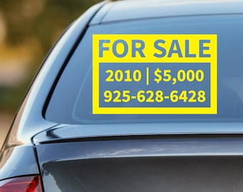 truck for sale sign