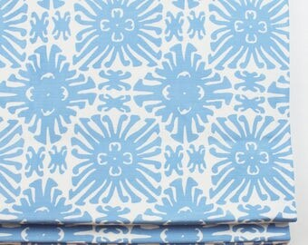 Quadrille China Seas Sigourney Small Scale Roman Shade (shown in French Blue on White -comes in many colors)