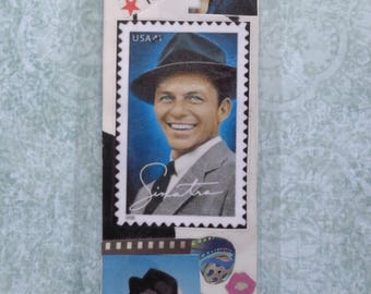 Frank Sinatra Handmade Collage Bookmark by Pepperland