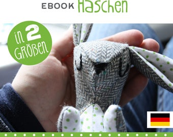 GERMAN bunny plushie, tutorial, DIY, instructions, sewing pattern,