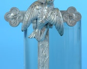 Vintage French Religious Large Pectoral Cross Olive Branch Holder Decoration or Keepsake