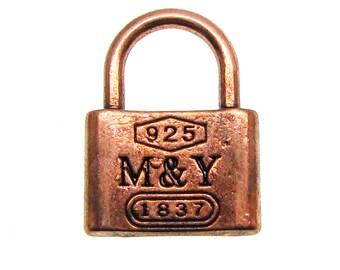 Antique Copper Vintage Skeleton Key Lock Charms / Steampunk [Choose 1 piece or 10 pieces]  -- Lead, Nickel & Cadmium Free 3279-R.C30