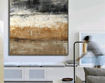 art painting,    canvas art,  landscape painting, , grey, brown, white,  wall decor, oil painting, abstract painting